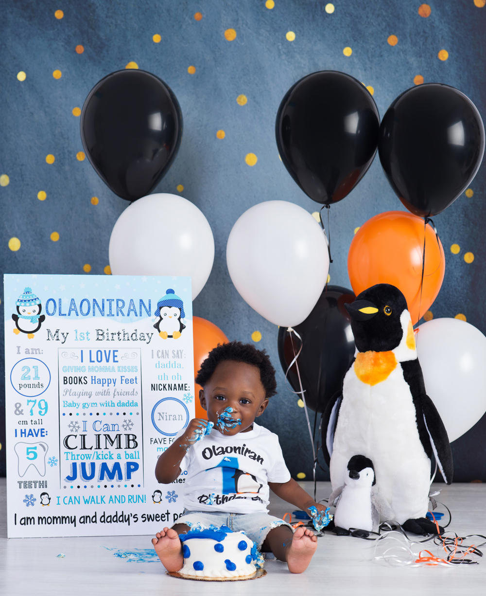 Happy Feet Birthday Party Decorations  from photosoncloud9.com